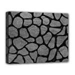 SKIN1 BLACK MARBLE & GRAY LEATHER Deluxe Canvas 20  x 16