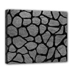SKIN1 BLACK MARBLE & GRAY LEATHER Deluxe Canvas 24  x 20