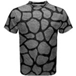 SKIN1 BLACK MARBLE & GRAY LEATHER Men s Cotton Tee