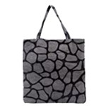 SKIN1 BLACK MARBLE & GRAY LEATHER Grocery Tote Bag