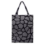 SKIN1 BLACK MARBLE & GRAY LEATHER Classic Tote Bag