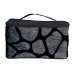 SKIN1 BLACK MARBLE & GRAY LEATHER Cosmetic Storage Case