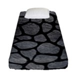 SKIN1 BLACK MARBLE & GRAY LEATHER Fitted Sheet (Single Size)