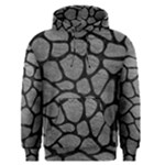 SKIN1 BLACK MARBLE & GRAY LEATHER Men s Pullover Hoodie