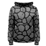 SKIN1 BLACK MARBLE & GRAY LEATHER Women s Pullover Hoodie