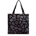 SKIN1 BLACK MARBLE & GRAY LEATHER Zipper Grocery Tote Bag