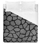SKIN1 BLACK MARBLE & GRAY LEATHER Duvet Cover (Queen Size)