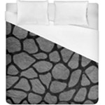 SKIN1 BLACK MARBLE & GRAY LEATHER Duvet Cover (King Size)