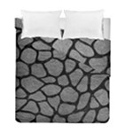 SKIN1 BLACK MARBLE & GRAY LEATHER Duvet Cover Double Side (Full/ Double Size)