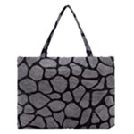 SKIN1 BLACK MARBLE & GRAY LEATHER Medium Tote Bag