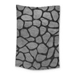 SKIN1 BLACK MARBLE & GRAY LEATHER Small Tapestry