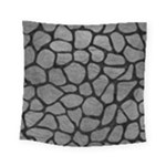 SKIN1 BLACK MARBLE & GRAY LEATHER Square Tapestry (Small)