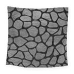 SKIN1 BLACK MARBLE & GRAY LEATHER Square Tapestry (Large)