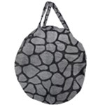 SKIN1 BLACK MARBLE & GRAY LEATHER Giant Round Zipper Tote