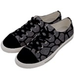 SKIN1 BLACK MARBLE & GRAY LEATHER Men s Low Top Canvas Sneakers