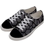 SKIN1 BLACK MARBLE & GRAY LEATHER Women s Low Top Canvas Sneakers