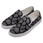 SKIN1 BLACK MARBLE & GRAY LEATHER Men s Canvas Slip Ons