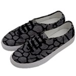 SKIN1 BLACK MARBLE & GRAY LEATHER Men s Classic Low Top Sneakers