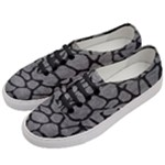 SKIN1 BLACK MARBLE & GRAY LEATHER Women s Classic Low Top Sneakers