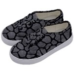 SKIN1 BLACK MARBLE & GRAY LEATHER Kids  Classic Low Top Sneakers