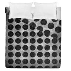 Circles1 Black Marble & Gray Metal 2 (r) Duvet Cover Double Side (queen Size) by trendistuff