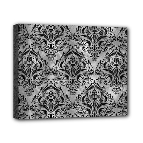 Damask1 Black Marble & Gray Metal 2 (r) Canvas 10  X 8  by trendistuff