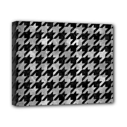 Houndstooth1 Black Marble & Gray Metal 2 Canvas 10  X 8  by trendistuff