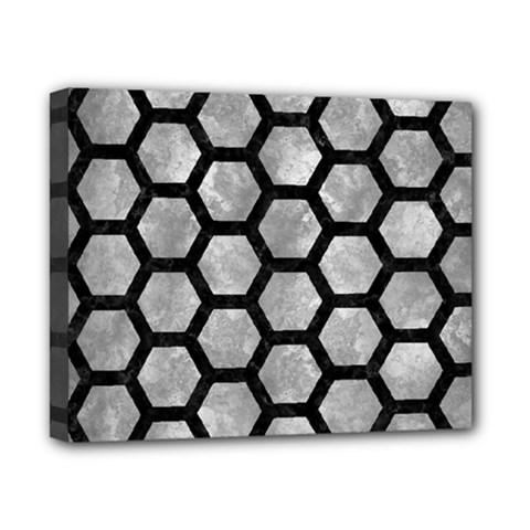 Hexagon2 Black Marble & Gray Metal 2 (r) Canvas 10  X 8  by trendistuff