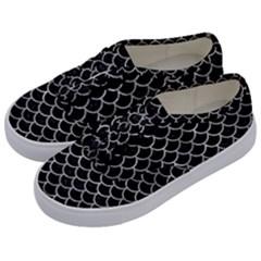 Scales1 Black Marble & Gray Metal 2 Kids  Classic Low Top Sneakers by trendistuff