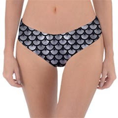 Scales3 Black Marble & Gray Metal 2 (r) Reversible Classic Bikini Bottoms by trendistuff