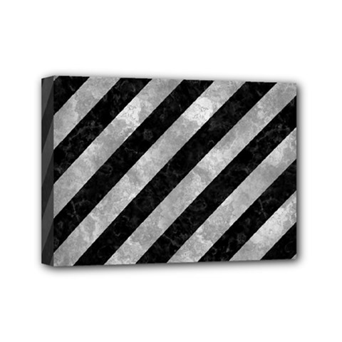 Stripes3 Black Marble & Gray Metal 2 Mini Canvas 7  X 5  by trendistuff