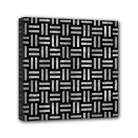 Woven1 Black Marble & Gray Metal 2 Mini Canvas 6  X 6  by trendistuff