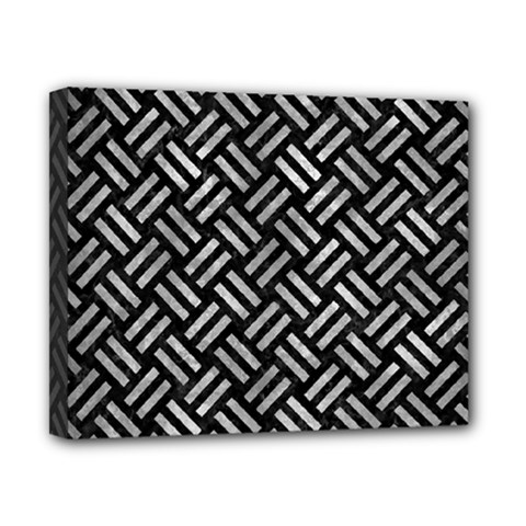 Woven2 Black Marble & Gray Metal 2 Canvas 10  X 8  by trendistuff