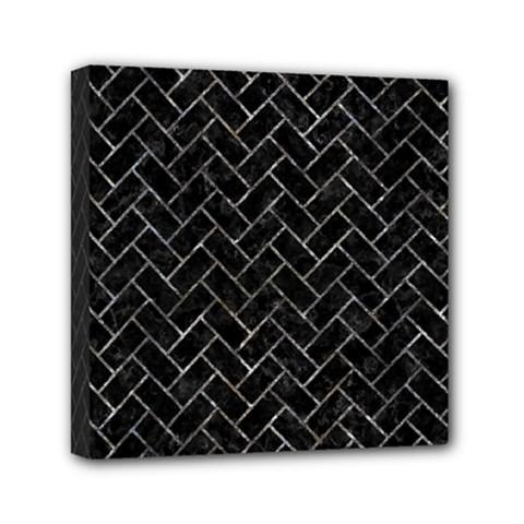 Brick2 Black Marble & Gray Stone Mini Canvas 6  X 6  by trendistuff