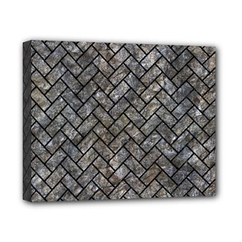 Brick2 Black Marble & Gray Stone (r) Canvas 10  X 8  by trendistuff