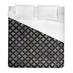 Circles3 Black Marble & Gray Stone (r) Duvet Cover (full/ Double Size) by trendistuff