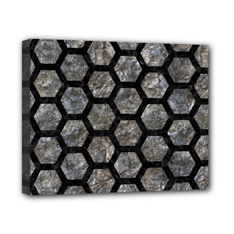 Hexagon2 Black Marble & Gray Stone (r) Canvas 10  X 8  by trendistuff