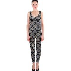 Scales1 Black Marble & Gray Stone (r) Onepiece Catsuit by trendistuff