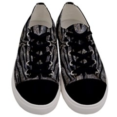 Skin2 Black Marble & Gray Stone (r) Men s Low Top Canvas Sneakers