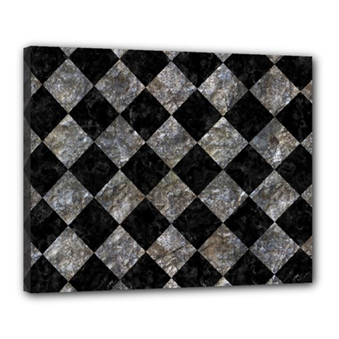 Square2 Black Marble & Gray Stone Canvas 20  X 16  by trendistuff