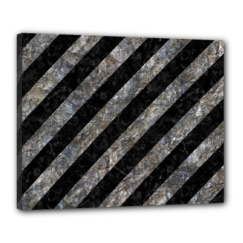 Stripes3 Black Marble & Gray Stone Canvas 20  X 16  by trendistuff