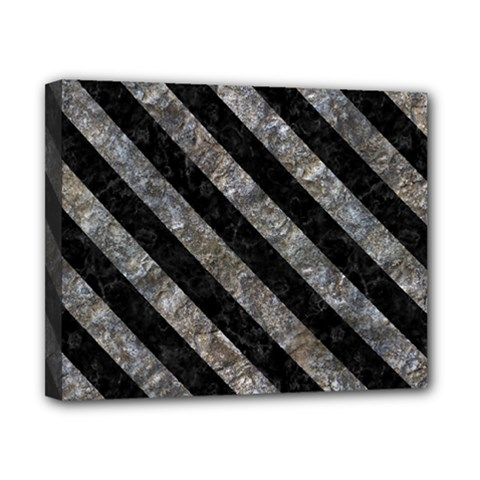 Stripes3 Black Marble & Gray Stone (r) Canvas 10  X 8  by trendistuff