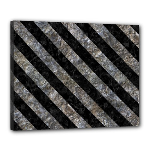 Stripes3 Black Marble & Gray Stone (r) Canvas 20  X 16  by trendistuff