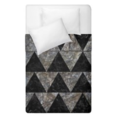 Triangle2 Black Marble & Gray Stone Duvet Cover Double Side (single Size) by trendistuff