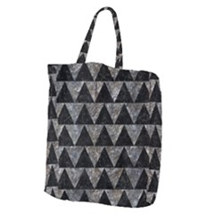 Triangle2 Black Marble & Gray Stone Giant Grocery Zipper Tote by trendistuff