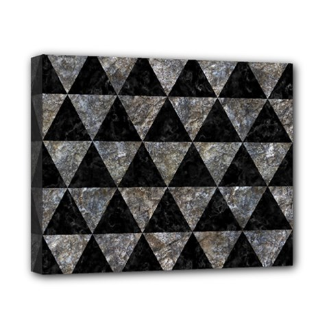 Triangle3 Black Marble & Gray Stone Canvas 10  X 8  by trendistuff