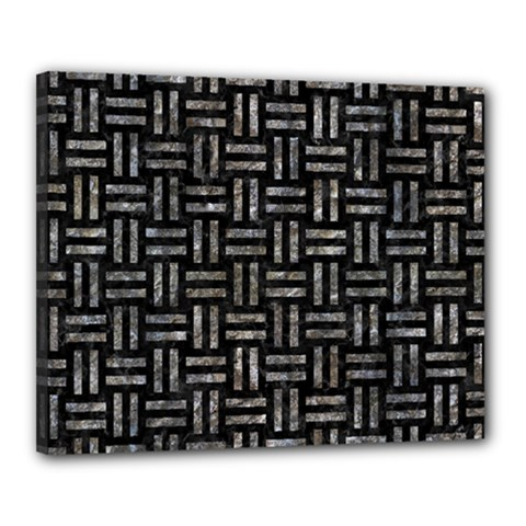 Woven1 Black Marble & Gray Stone Canvas 20  X 16  by trendistuff
