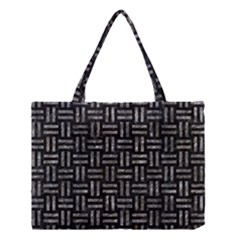 Woven1 Black Marble & Gray Stone Medium Tote Bag by trendistuff