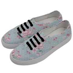 Shabby Chic,pink,roses,polka Dots Men s Classic Low Top Sneakers by 8fugoso