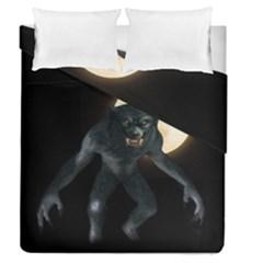 Werewolf Duvet Cover Double Side (queen Size) by Valentinaart